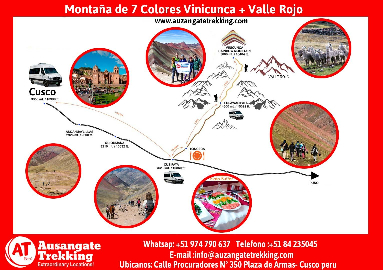Montaña de Colores Vinicunca | Rainbow Mountain Trek | Full Day Trek